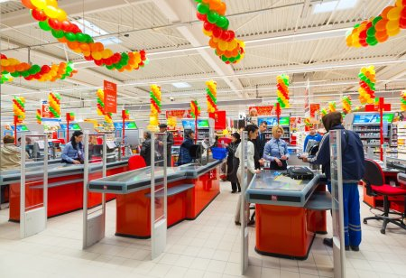 Photos at hypermarket opening