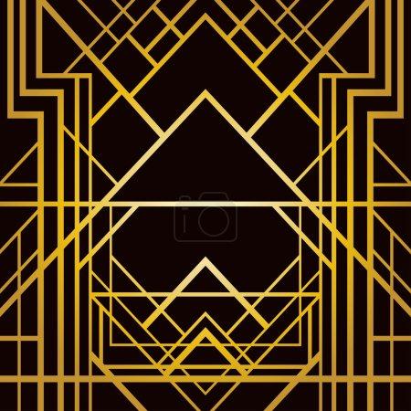 Art deco geometric pattern