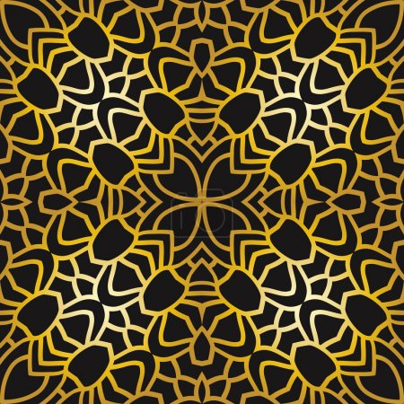 Abstract pattern in art deco style
