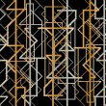 Art deco geometric frame (1920's style)...