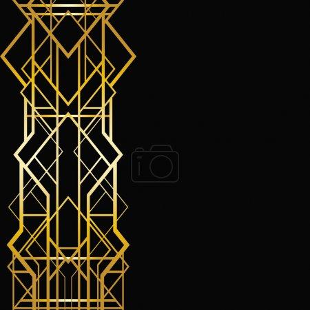 art deco geometryczne ramki (1920 styl)