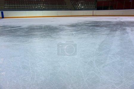 Ice on hockey rink