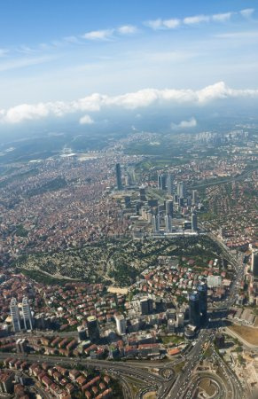 Istanbul and the Bosporus from the air
