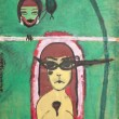 Detail from the painting exhibition of Semiha Berk...