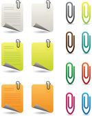 Notepapers and paperclips