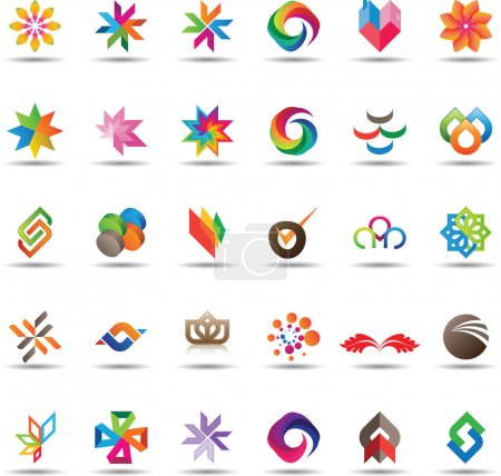 Illustration for Large et of colorful and trendy icons - Royalty Free Image