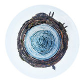 Spherical view of Golden Horn in Istanbul