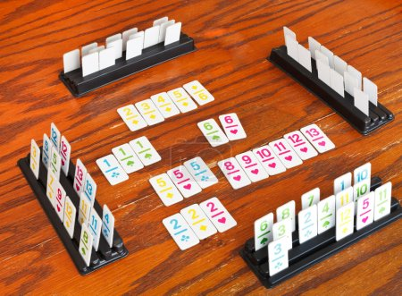 playingfield of rummy card game