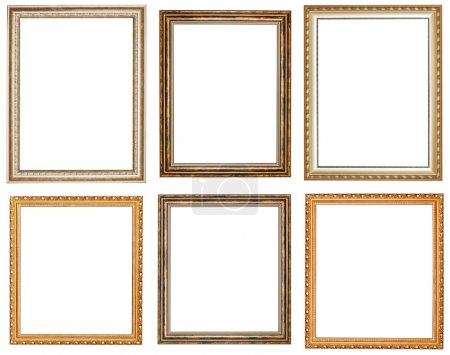 set of vintage wooden picture frames