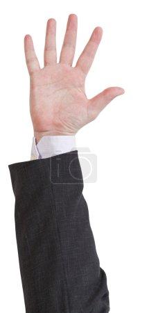 open five fingers - hand gesture