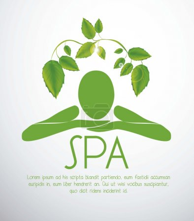 Illustration for Illustration of spa icon, silhouette with position of rest and relaxation, vector illustration - Royalty Free Image