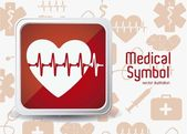 Illustration of Medical Logo Vector in red colour vector illustration