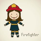 Illustration of a firefighter with suit firefighter icon vector illustration
