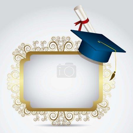 Illustration for Illustration of icons of graduates. University icons. vector illustration - Royalty Free Image
