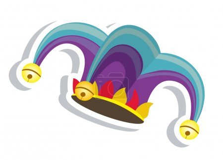 Illustration for Illustration of a jester hat. April Fools Day. vector illustration - Royalty Free Image