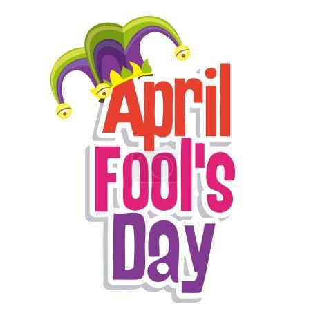 Illustration for Illustration of a jester hat. April Fools Day. vector illustration - Royalty Free Image