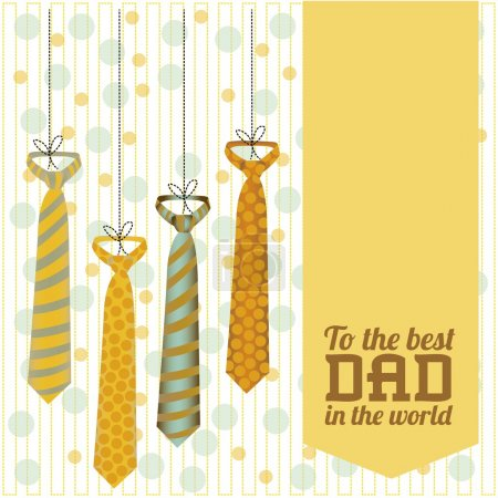 Illustration for Illustration for dad, happy father's day, vector illustration - Royalty Free Image