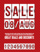 Illustration of Sale with countdown timer illustration Vector