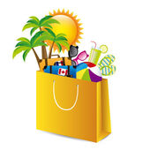Holiday packing over white background vector illustration