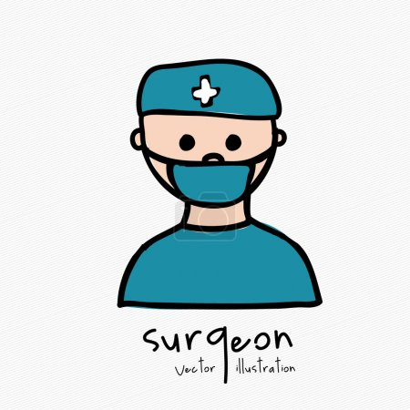 Illustration for Surgeon design over white background vector illustration - Royalty Free Image