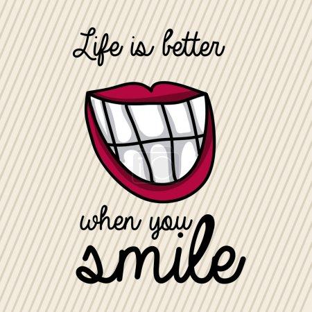 Illustration pour Conception sourire sur fond blanc illustration vectorielle - image libre de droit