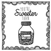 Sugar drawing over white background vector illustration