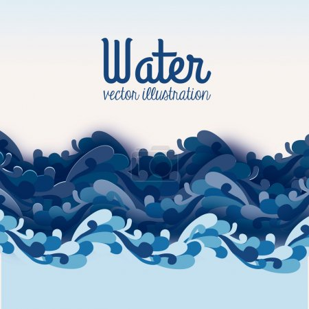 Illustration for Water design over blue background vector illustration - Royalty Free Image