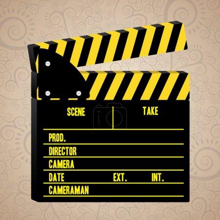 Illustration pour Cinéma sur fond beige illustration vectorielle - image libre de droit
