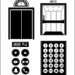 Elevator design over white background, vector illu...