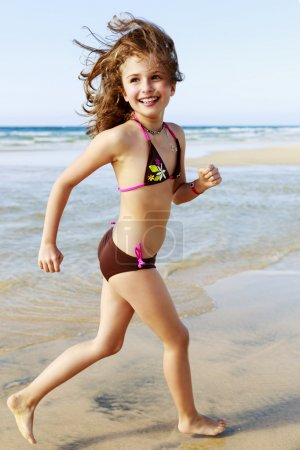 Summer joy - young girl enjoying summer