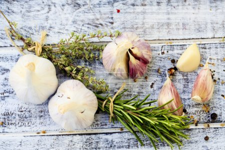 Photo for Garlic, herbs and spices - Royalty Free Image