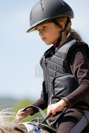 Equitación, chica ecuestre