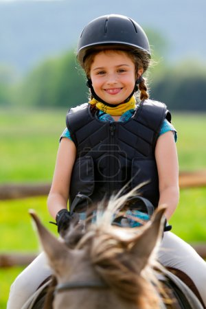 Horse riding, equestrian girl