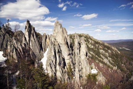 Photo pour Au sommet de la montagne - image libre de droit