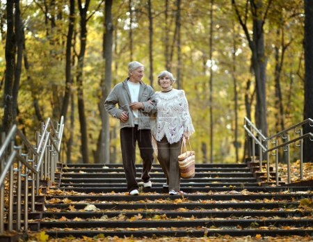 Happy elder couple