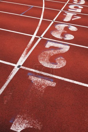 Photo for Running Track with number close up - Royalty Free Image