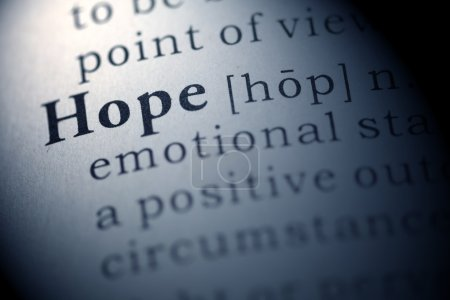 Photo for Dictionary definition of the word hope, Fake Dictionary - Royalty Free Image