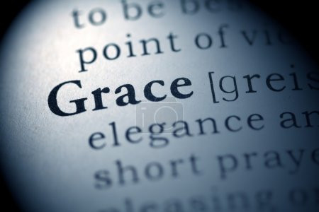 Photo for Fake Dictionary, Dictionary definition of the word Grace. - Royalty Free Image