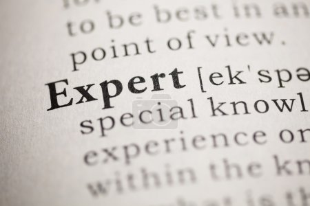 Photo pour Faux dictionnaire, Dictionnaire définition du mot Expert . - image libre de droit