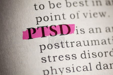 Photo for Fake Dictionary, Dictionary definition of the word PTSD. Post Traumatic Stress Disorder - Royalty Free Image