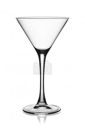 Empty martini glass.