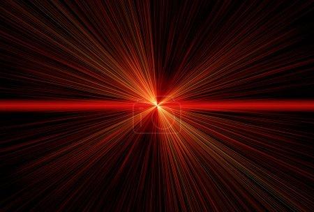 Photo pour Rayons laser rouges, rayons de lumière - image libre de droit