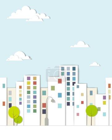 Urban landscape. vector applique.