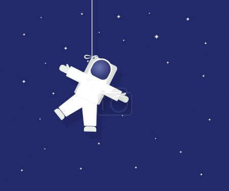 Illustration for The astronaut in outer space - Royalty Free Image