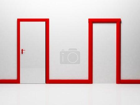 Two doors in the room