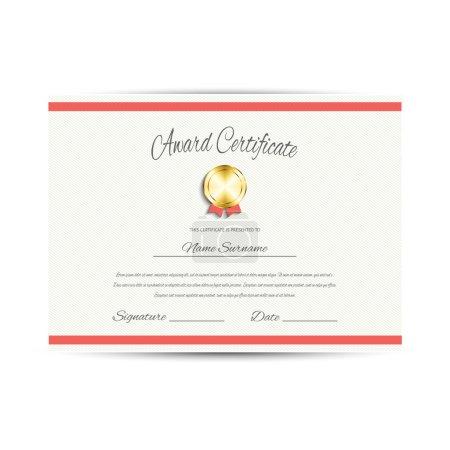 Award certificate, vector