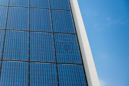 Blue solar cells panel