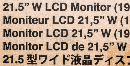 Standar monitor cardboard box