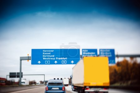 Busy highway autobahn road traffic in Germany - Ti...