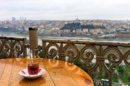 Photo pour Vue d'ensemble d'istanbul de pierre loti café, eyub, istanbul, Turquie - image libre de droit